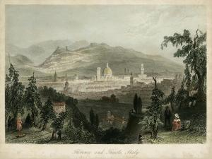 Florence & Fiesole, Italy by William Henry Bartlett