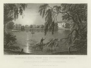 Gosfield Hall, from the Weathersfield Road, Essex, the Seat of E G Barnard, Esquire by William Henry Bartlett