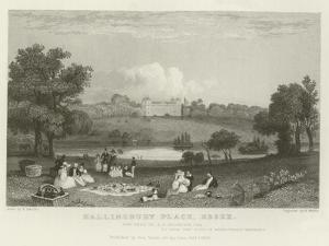 Hallingbury Place, Essex, the Seat of J a Houblen, Esquire by William Henry Bartlett