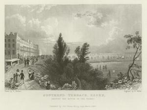 Southend Terrace, Essex, Shewing the Mouth of the Thames by William Henry Bartlett