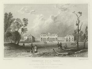 Thorndon Hall, Essex, from the North, Seat of Lord Petrie by William Henry Bartlett