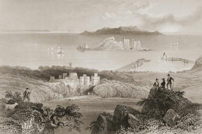 View of Howth Castle, County Dublin, Ireland, from 'scenery and Antiquities of Ireland' by George…