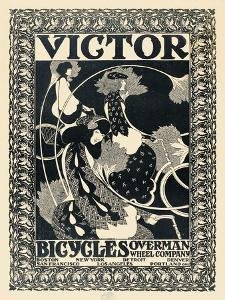 Victor Bicycles (vertical, monochrome) by William Henry Bradley