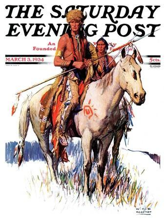 """""""Plains Indians,"""" Saturday Evening Post Cover, March 3, 1934"""