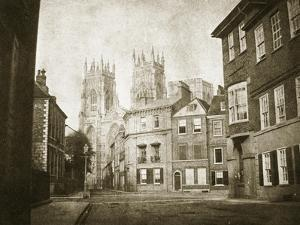 West Front, York Minster, from Lendall Street, 1845 (B/W Photo) by William Henry Fox Talbot