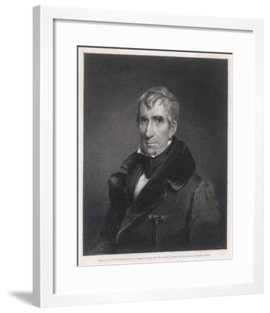 William Henry Harrison President of the United States Who Died in Office after Only One Month-R^w^ Dodson-Framed Giclee Print
