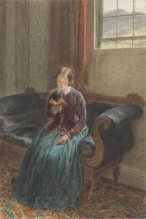 A Lady Reading, Called Mrs William Hunt, C.1835 (Gouache and W/C over Graphite on Paper)