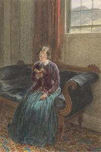 A Lady Reading, Called Mrs William Hunt, C.1835 (Gouache and W/C over Graphite on Paper) by William Henry Hunt