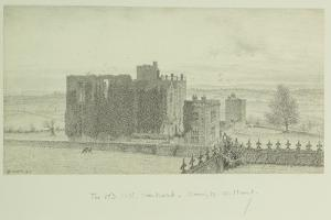 Hardwick Old Hall, 1828 by William Henry Hunt