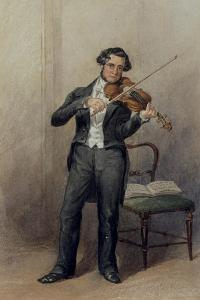 Member of the 6th Duke of Devonshire's Orchestra by William Henry Hunt