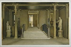 North Entrance Hall at Chatsworth House by William Henry Hunt