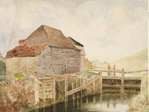 Old Mill and Lock Gates (St. Catherine's), C.1820-40 by William Henry Hunt