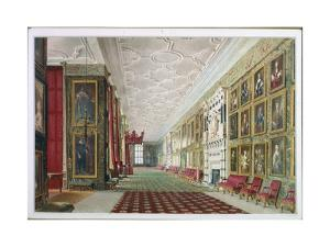 The Long Gallery, Hardwick, 1828 by William Henry Hunt