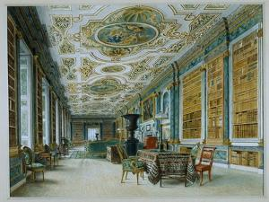 The Old Ballroom, Now the Library, Chatsworth by William Henry Hunt