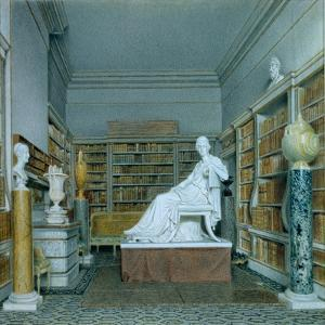 The Old Library, Chatsworth by William Henry Hunt