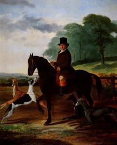 Huntsman with his Greyhounds by William Henry Knight