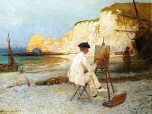 A Painter by the Sea Side, C.1885 by William Henry Lippincott