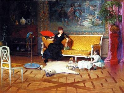 The Doll's Tea Time, 1885