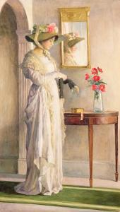 A Moment's Reflection, 1909 by William Henry Margetson