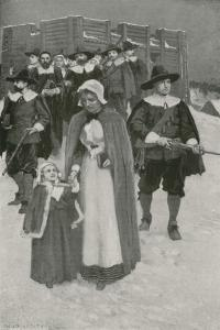 Sabbath-Day with the Pilgrim Fathers at their First Settlement in New Plymouth by William Henry Margetson