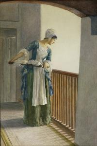 The Laundry Maid, c.1920 by William Henry Margetson