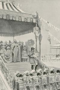 """The Queen Being Proclaimed """"Empress of India"""" at Delhi by William Henry Margetson"""