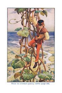 Then He Climbed Quietly Down, Jack and the Beanstalk, 1925 by William Henry Margetson