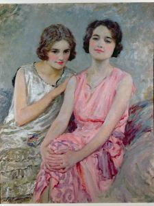 Two Young Women Seated by William Henry Margetson