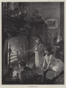 A Christmas Fireside by William Heysham Overend