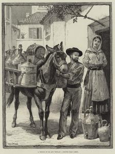 A Vendor of Oil and Vinegar, a Sketch Near Lisbon by William Heysham Overend