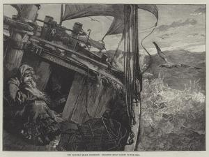 The Castaway Smack Columbine, Elizabeth Mouat Lashed to the Deck by William Heysham Overend