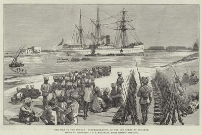 The War in the Soudan, Disembarkation of the 15th Sikhs at Souakim