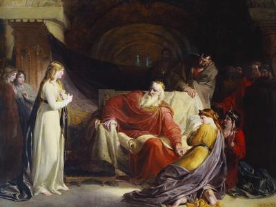 King Lear and His Three Daughters