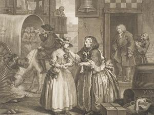 "A Harlot's Progress, Plate I from the Series ""A Harlot's Progress"", April 1732 by William Hogarth"