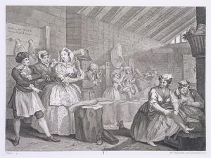 A Harlot's Progress, Plate IV, from 'The Original and Genuine Works of William Hogarth' by William Hogarth