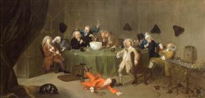 A Midnight Modern Conversation, c.1732 by William Hogarth