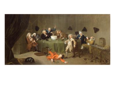 A Midnight Modern Conversation, c.1732