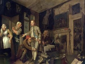 A Rake's Progress I: the Rake Taking Possession of His Estate, 1733 by William Hogarth