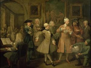 A Rake's Progress II: the Rake's Levee, 1733 by William Hogarth