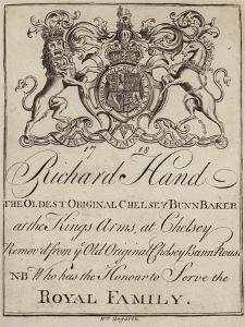 Bun Baker, Richard Hand, Trade Card by William Hogarth