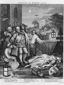 """Cruelty in Perfection, from """"The Four Stages of Cruelty"""", 1751 by William Hogarth"""