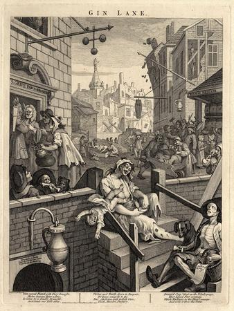 Gin Lane (Beer Street and Gin Lane), 1751