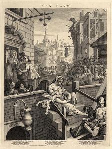Gin Lane (Beer Street and Gin Lane), 1751 by William Hogarth