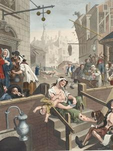 Gin Lane, Illustration from 'Hogarth Restored: the Whole Works of the Celebrated William Hogarth,… by William Hogarth