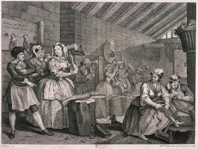 In Bridewell Beating Hemp, Plate IV of the Harlot's Progress, 1732 by William Hogarth