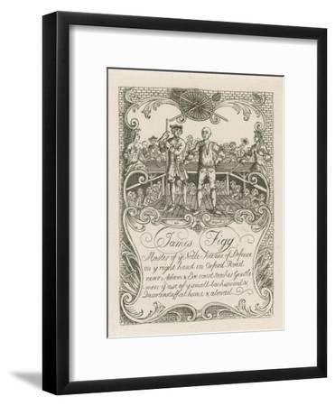 James Figg's Trade Card Designed by Hogarth
