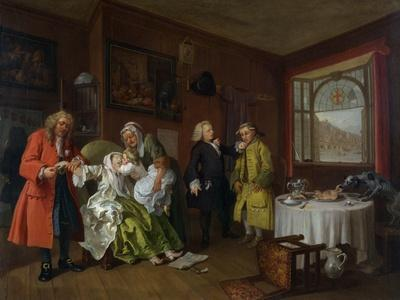 Marriage a La Mode: Vi, the Lady's Death, C.1743