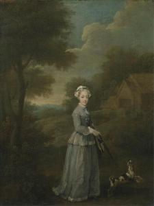 Miss Wood with Her Dog, C.1730 by William Hogarth