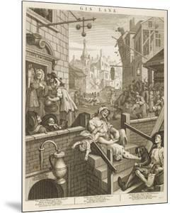 Political Prints Supporting a Ministerial Measure Against the Unlimited Sale of Gin by William Hogarth