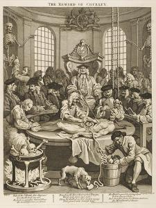 Reward for Cruelty Hideously Dissected by Zealous Medics by William Hogarth